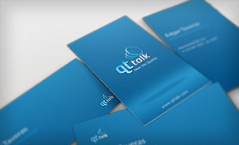Business Card Design QT Talk